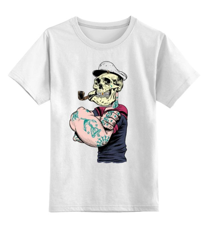 Купить 0000000668209, Детская футболка классическая Printio Sailor, р. 164,