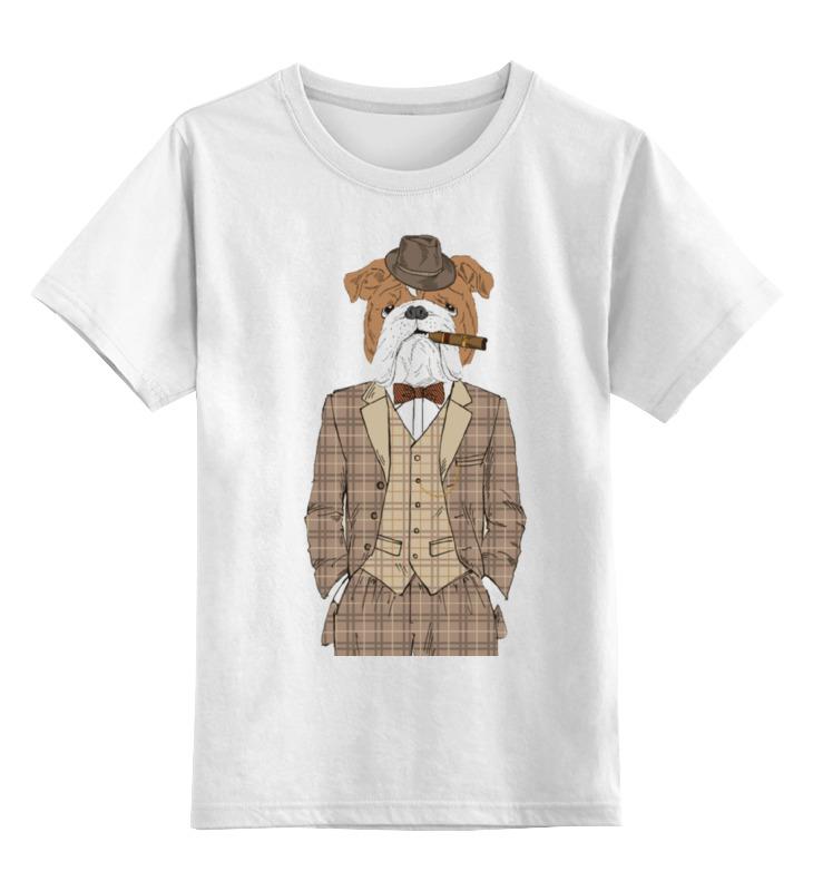 Детская футболка классическая Printio Уважаемый пес, р. 152 0000000666001