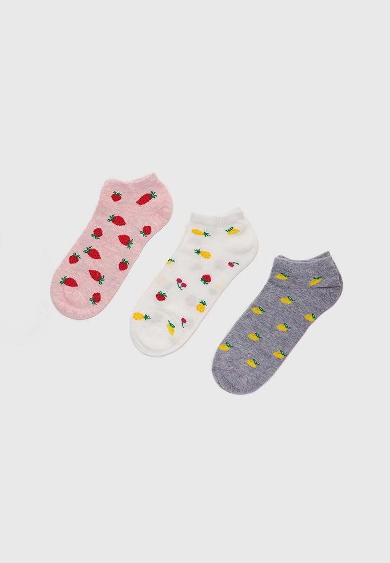 Набор носков женских Modis M211U00548P503 разноцветных 25-27