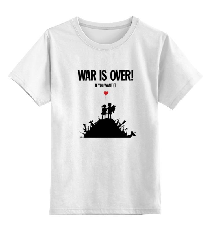 Купить 0000000671761, Детская футболка классическая Printio War is over, р. 104,