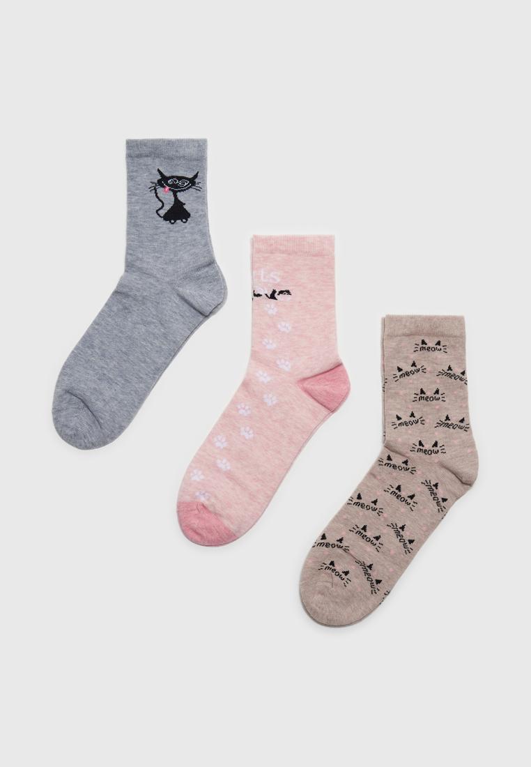 Набор носков женских Modis M211U00252P503L40 разноцветных 23-25