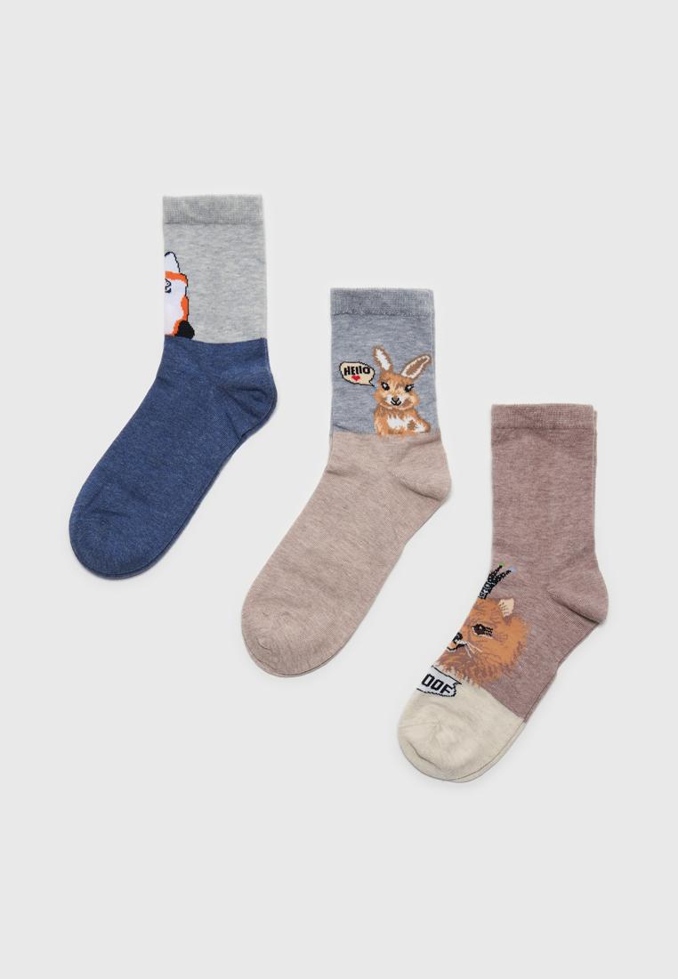 Набор носков женских Modis M211U00253P503L40 разноцветных 23-25