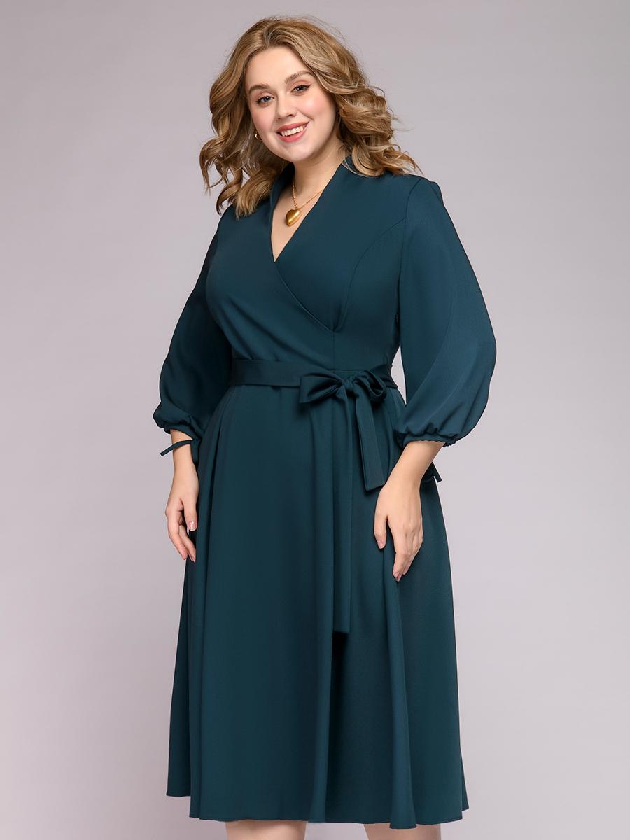 Платье женское 1001dress 0222001-00081EM зеленое 54-56