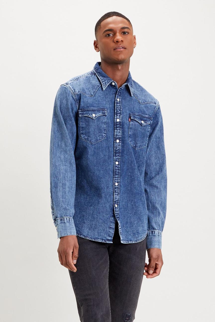 Рубашка мужская Levi's 8574400120 синяя 52