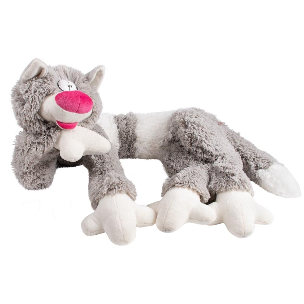 Купить Мягкая игрушка Fancy Кот Бекон серый 112 см Серый,