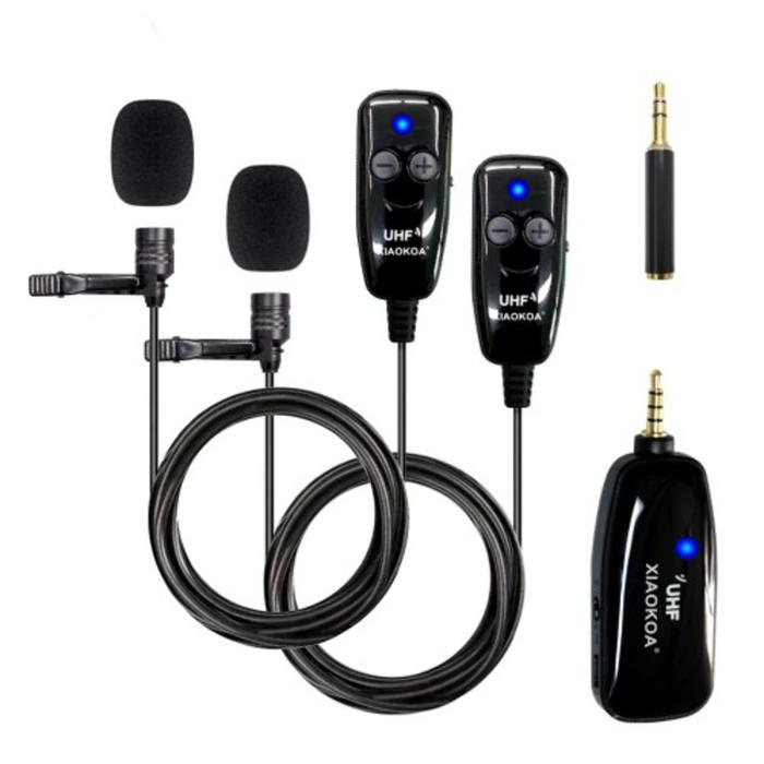 Микрофон XIAOKOA N81-UHF 2 шт Black