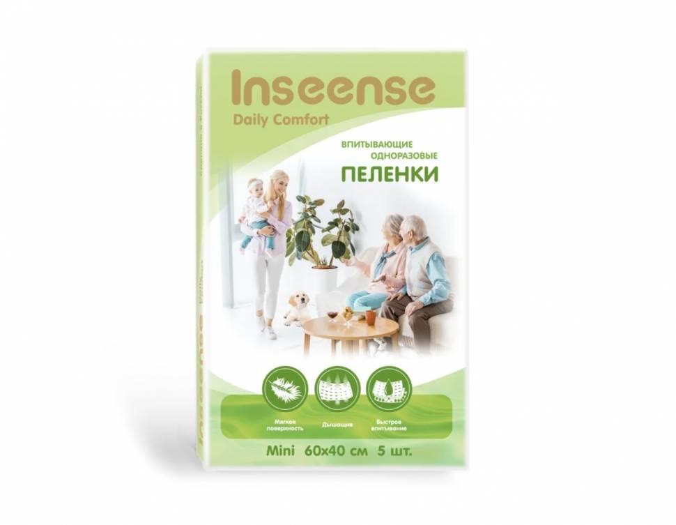 Купить Пеленки INSEENSE Daily Comfort впитывающие одноразовые 60х40 5 шт.