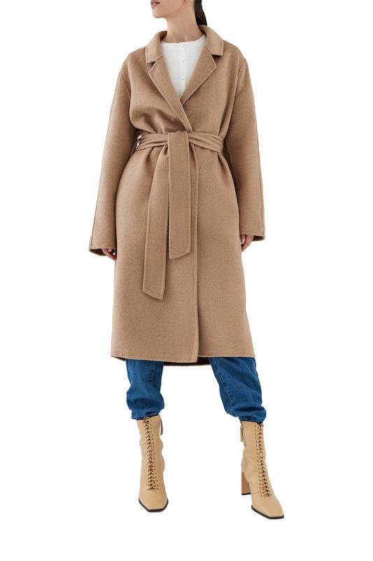 Пальто-халат женское ZARINA 328430130 бежевое 48