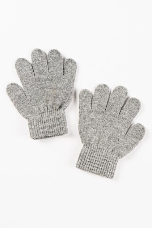 Перчатки Button Blue для мальчиков цв. серый р-р. 16