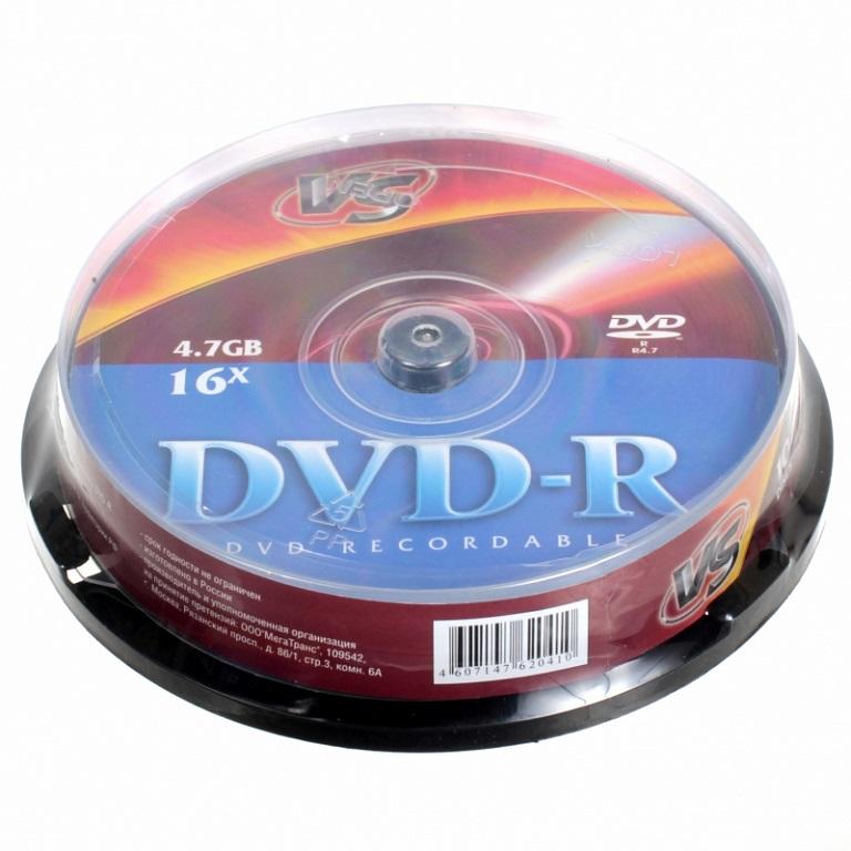 Диск VS DVD+R 4.7 Gb 10 шт