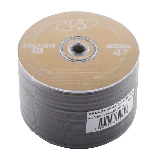 Диск VS DVD+RW 4.7 Gb 50 шт