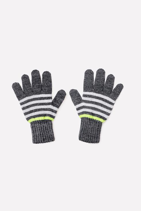 Перчатки Crockid для мальчиков цв. серый р-р. 12