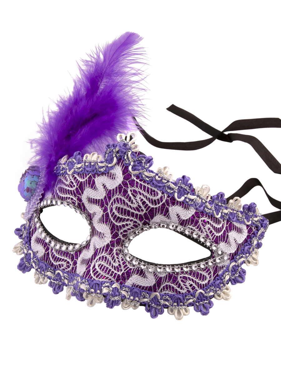 Купить Карнавальная маска Феникс-Презент Фиолетовая,