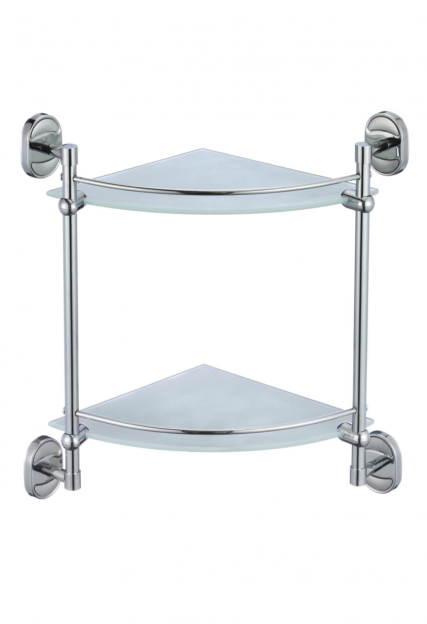 Полка угловая двойная стеклянная Savol S 007073