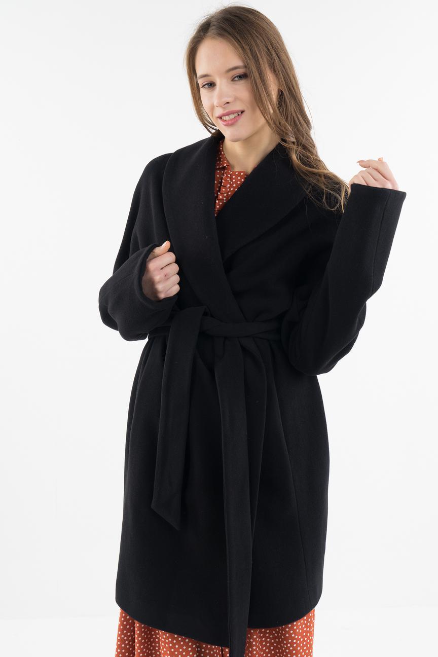 Пальто-халат женское LA VIDA RICA C72009 черное 46