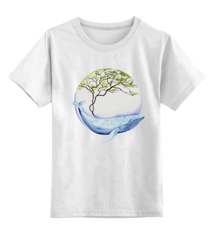 Купить 0000000674313, Детская футболка классическая Printio Кит, р. 128,