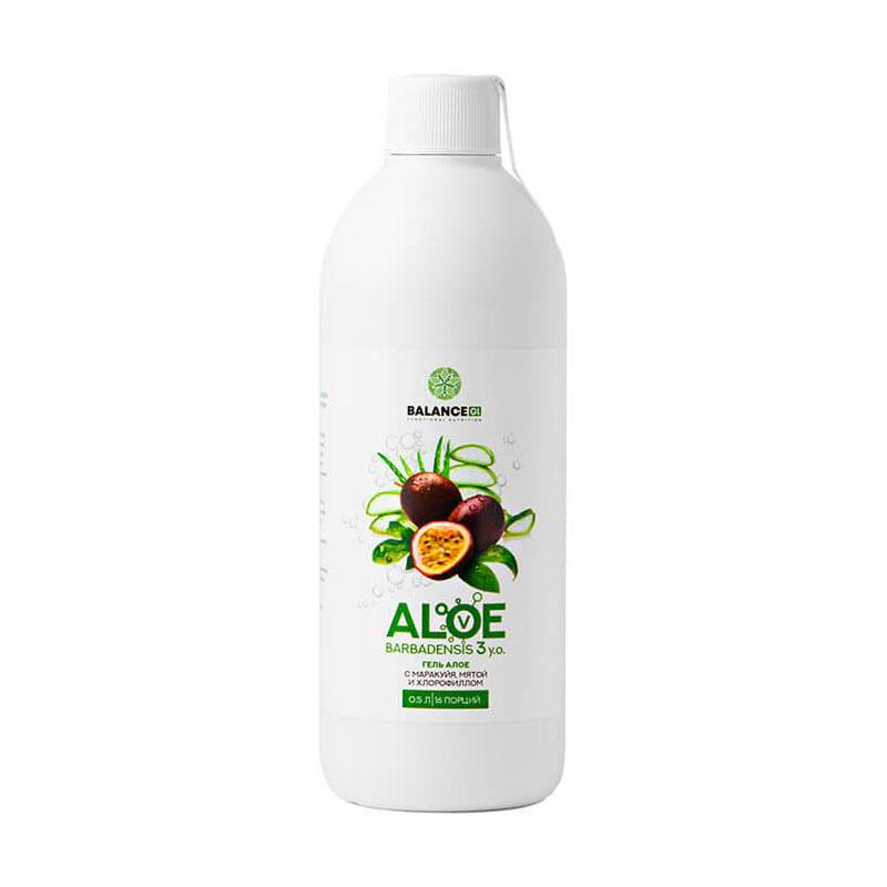 Купить Сок алоэ с маракуйей и мятой Balance Group Life Aloe barbadensis gel, 500 мл, Сок алоэ с маракуйей и мятой Balance Group Life Aloe barbadensis gel 500 мл