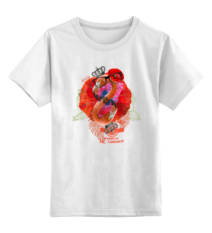 Купить 0000000676219, Детская футболка классическая Printio It's uk, р. 128,
