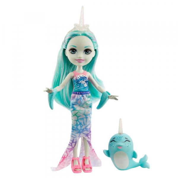 Кукла Enchantimals Надди Нарвал с питомцем