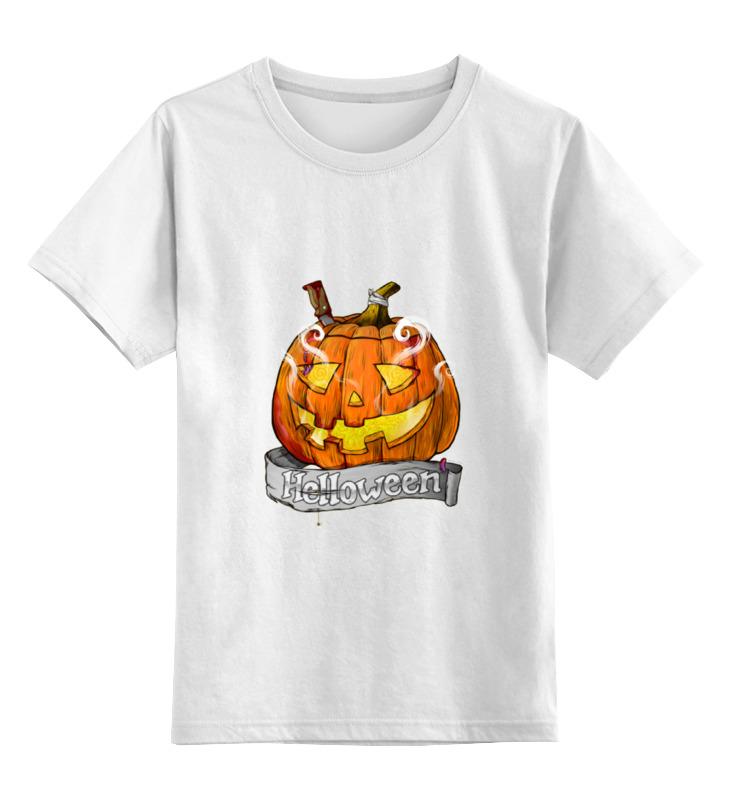 Купить 0000000675272, Детская футболка классическая Printio Helloween, р. 104,