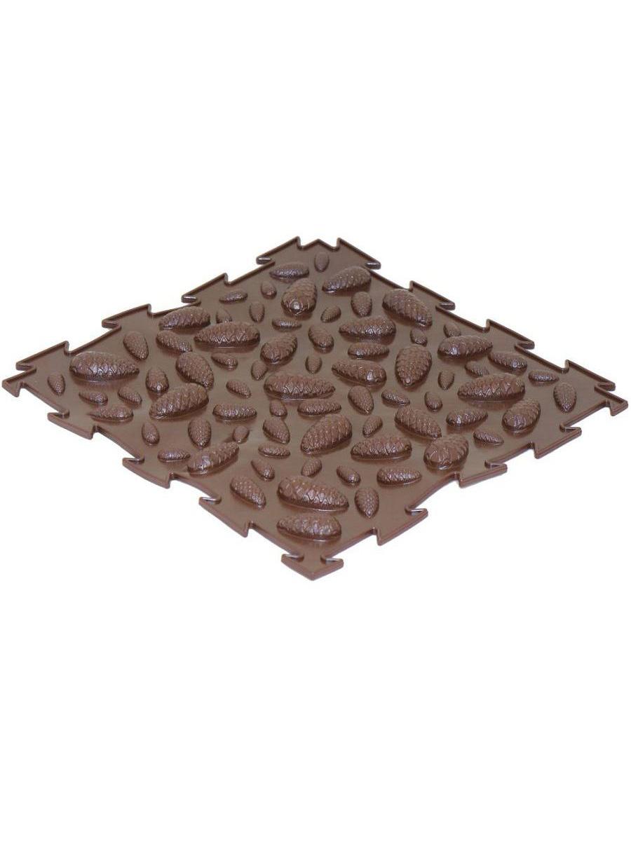 Массажный коврик Ортодон Шишки мягкие коричневый