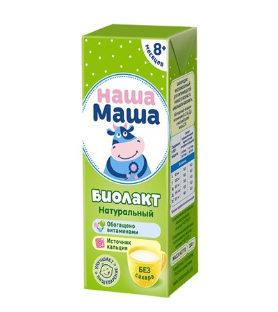 Купить Биолакт Наша Маша натуральный без сахара с 8 месяцев 3, 2% 200 г,