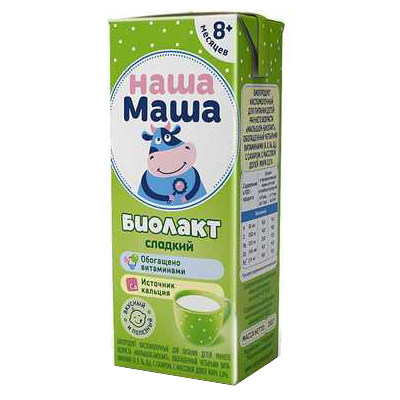 Купить Биолакт Наша Маша сладкий с 8 месяцев 3% 200 г,