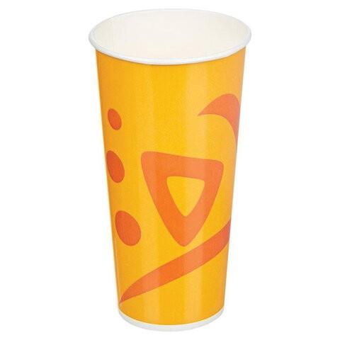 Одноразовые стаканы 500мл, 50шт, бум. односл., Whizz,