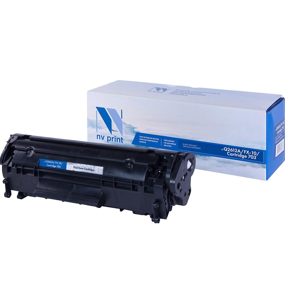 Картридж для лазерного принтера NV Print Q2612A/FX-10/703, черный, совместимый NV-Q2612A-FX10-703