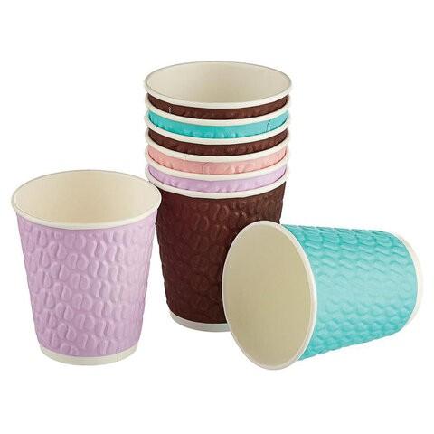 Одноразовые стаканы 200мл, 37шт, бумажные 2сл Кофейные