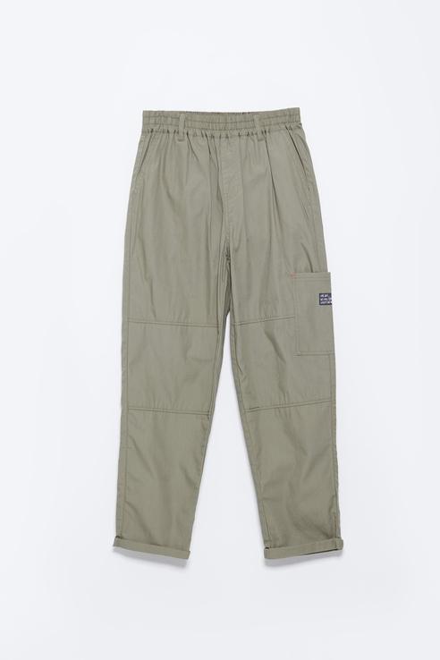 Купить Хлопковые брюки на резинке Sela 1805071509 цв. хаки р. 152,