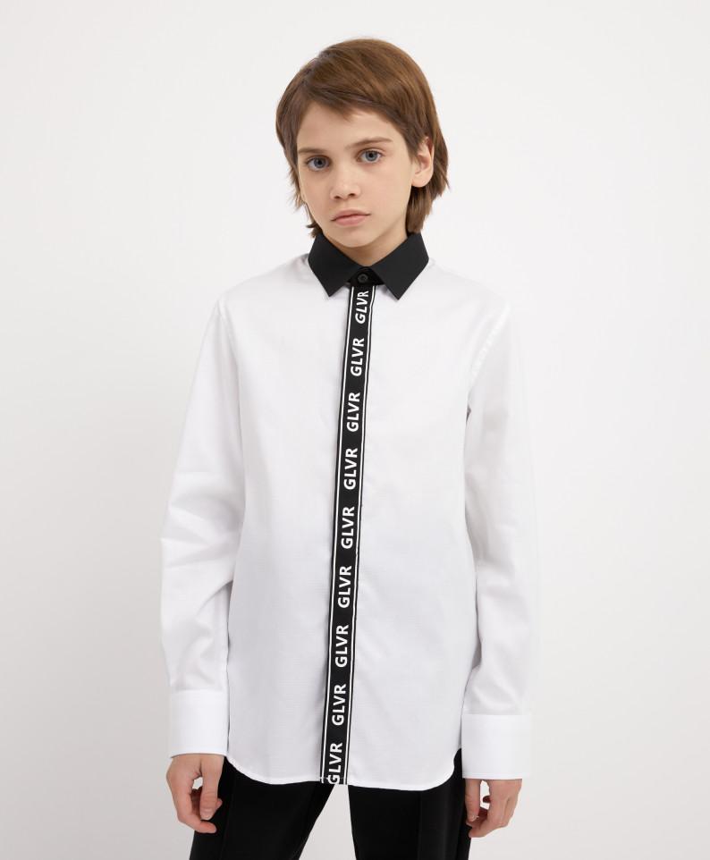 Сорочка белая с длинным рукавом Gulliver 221GSBJC2309 р.164