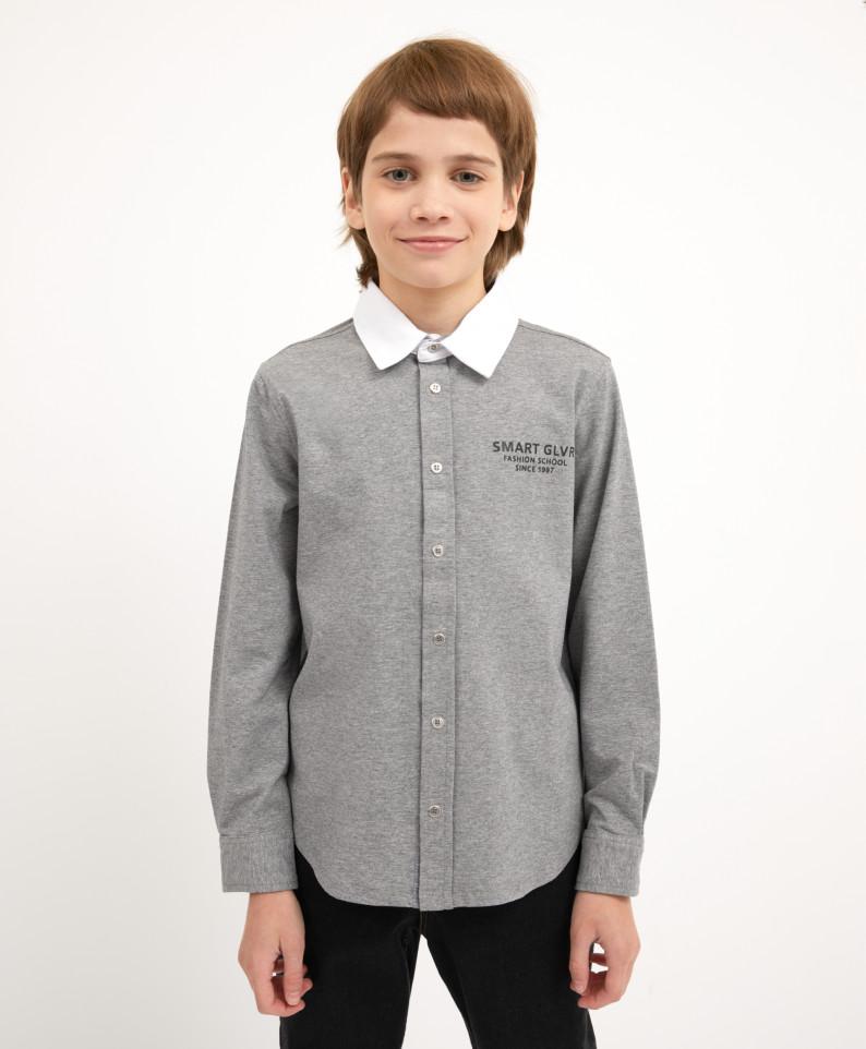 Рубашка серая с длинным рукавом Gulliver 200GSBC1403 р.158