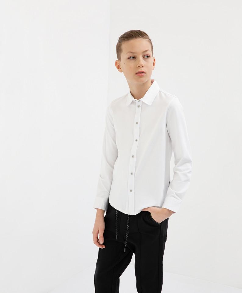 Рубашка белая с длинным рукавом Gulliver 200GSBC1404 р.140