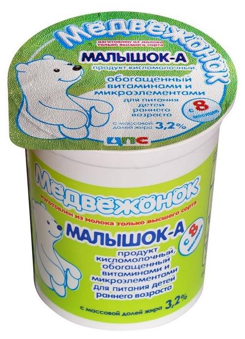 Купить Кисломолочный продукт Медвежонок Малышок-А с 8 месяцев 3, 2% 200 г,