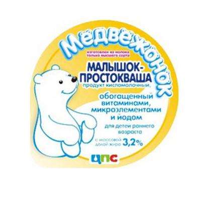 Купить Кисломолочный продукт Медвежонок Малышок-Простокваша с 8 месяцев 3, 2% 200 г,