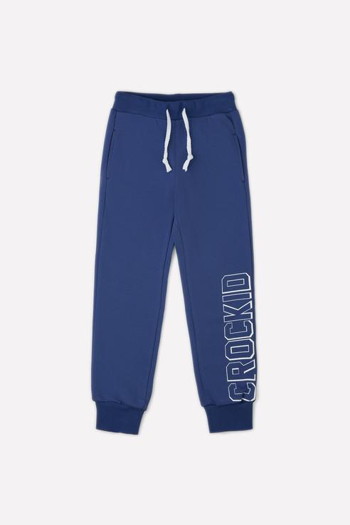Купить Спортивные брюки на резинке Crockid К 4848 цв. синий р. 92,