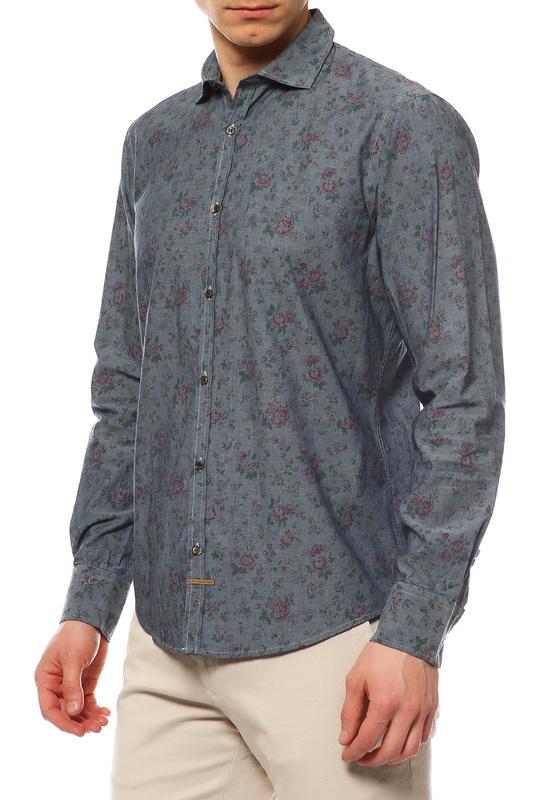 Рубашка мужская TRU TRUSSARDI 524081 синяя L