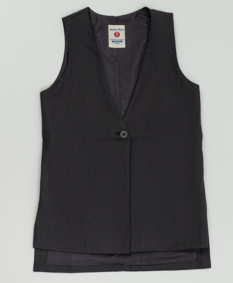 Серый удлиненный жилет BUTTON BLUE 220BBGS47020100, размер