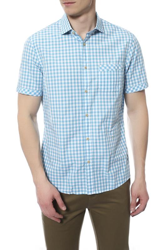 Рубашка мужская TRU TRUSSARDI 624175 голубая 40 IT