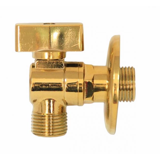 Кран KAISER 1/2 угловой Gold 261