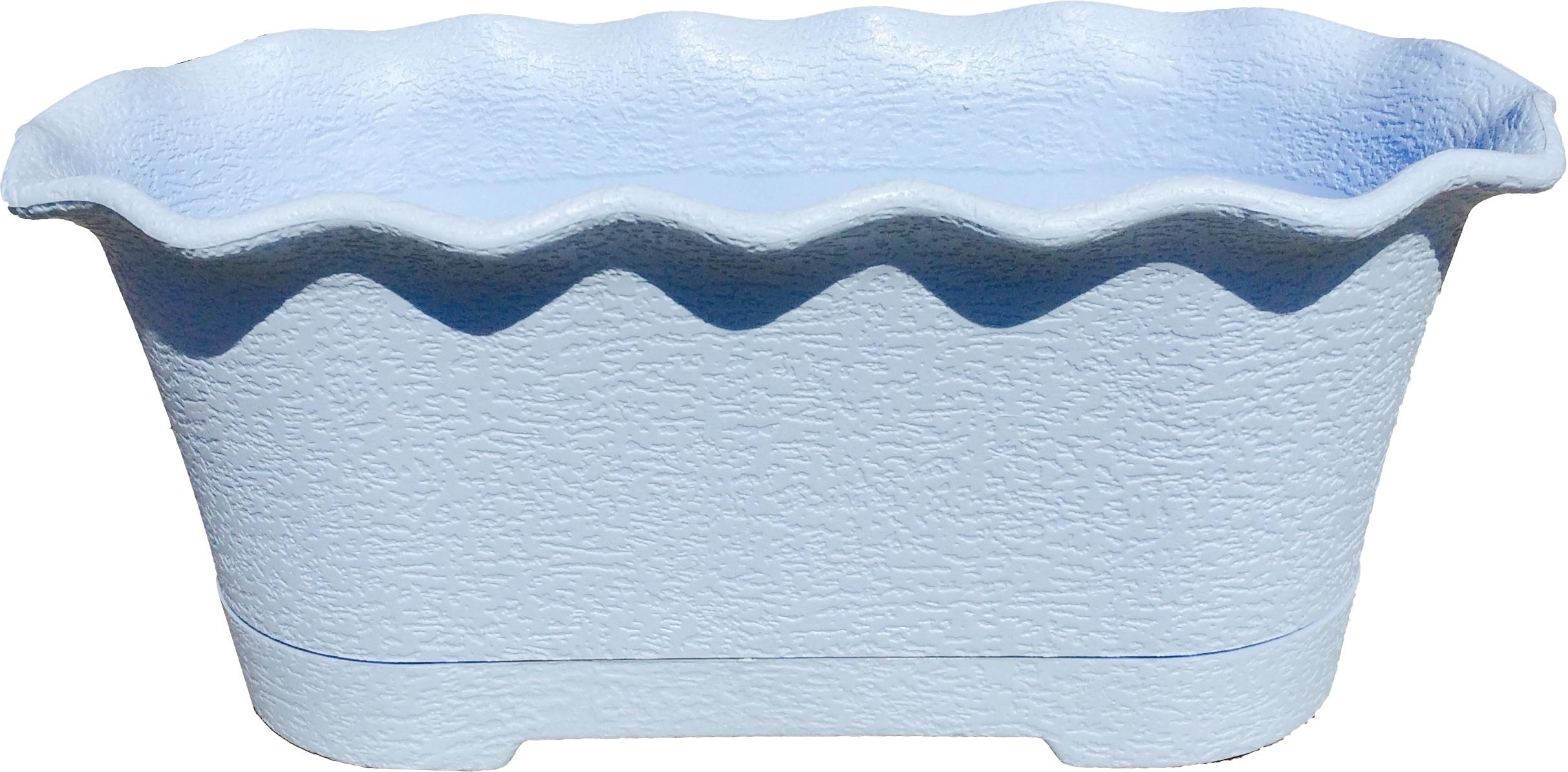 Горшок для цветов балконный La Fleur 40 см светло-синий по цене 221