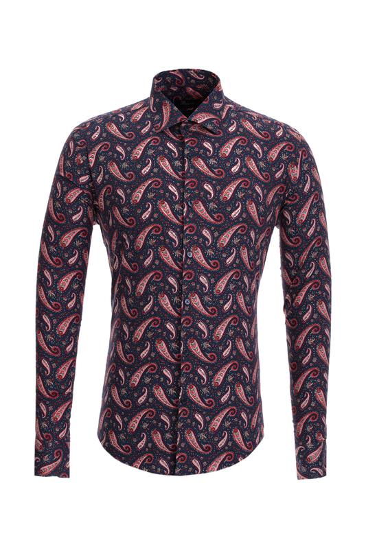Рубашка мужская BAWER 2R10012-02 синяя L