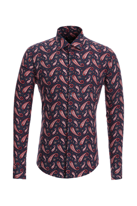 Рубашка мужская BAWER 2R10022-02 синяя XS