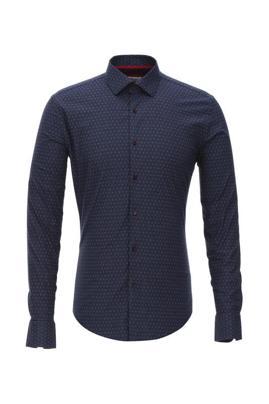 Рубашка мужская BAWER 2RY90012-06 синяя S