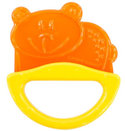 Купить 13/107, Погремушка с эластичным прорезывателем Canpol желтый мишка, 0м+, Canpol Babies,