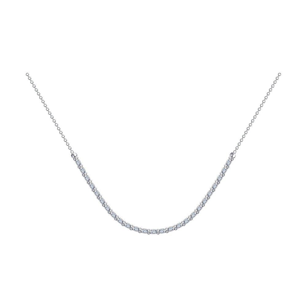 Колье SOKOLOV из серебра с фианитами 94074560 55