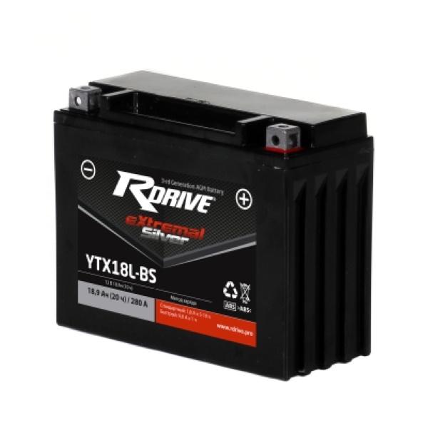 Аккумулятор RDRIVE SILVER YTX18L-BS по цене 5 850