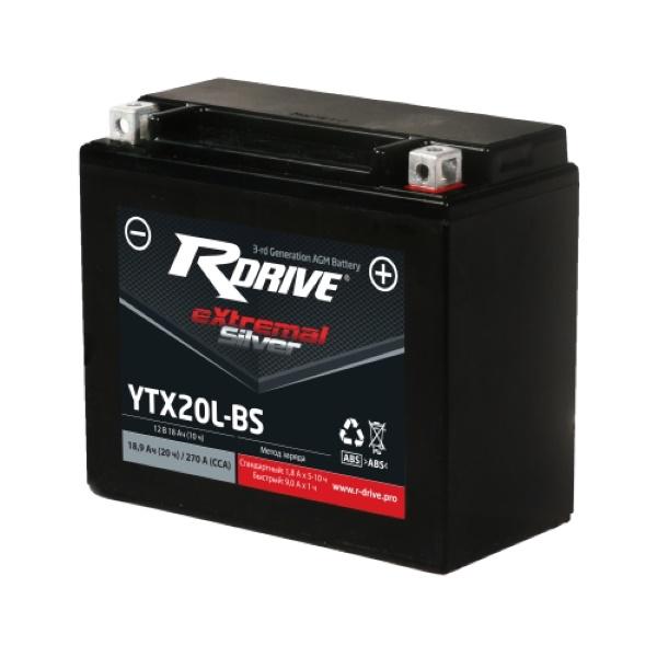 Аккумулятор RDRIVE SILVER YTX20L-BS по цене 5 560