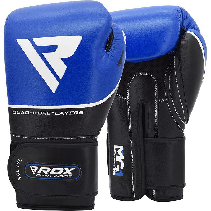 Боксерские тренировочные перчатки RDX BGL-T9 BLUE фото